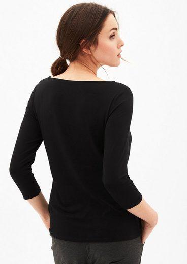 s.Oliver BLACK LABEL Elegantes Blusenshirt im Materialmix
