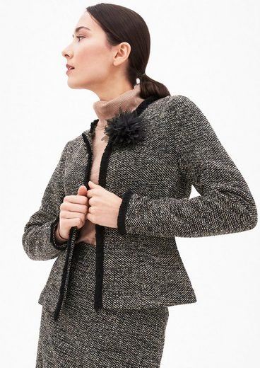 S.oliver Black Label Blazer-jacke In Bouclé-optik