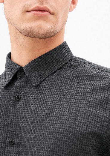 s.Oliver BLACK LABEL Slim: Hemd mit Strukturmuster