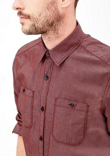 s.Oliver RED LABEL Regular: Hemd mit feinen Streifen