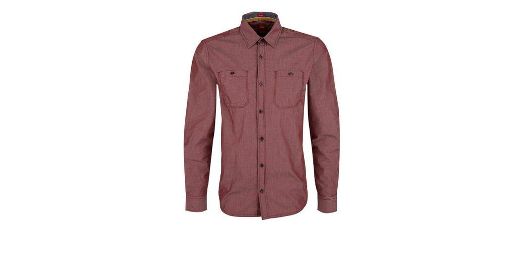 s.Oliver RED LABEL Regular: Hemd mit feinen Streifen Austrittsspeicherstellen Begrenzt Neue ao7HeAuFe