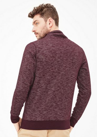 s.Oliver RED LABEL Meliertes Sweatshirt mit Turtleneck