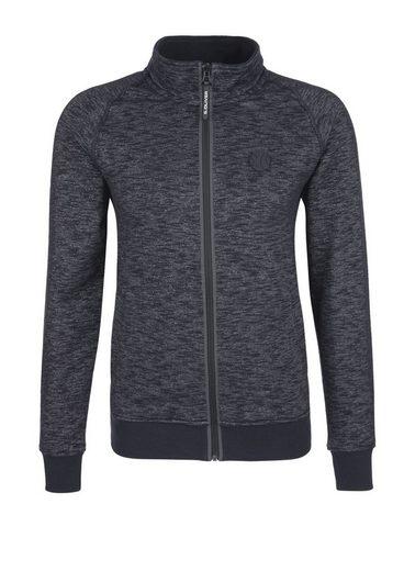 S.oliver Red Label Mottled Sweat Jacket With Stehkragen