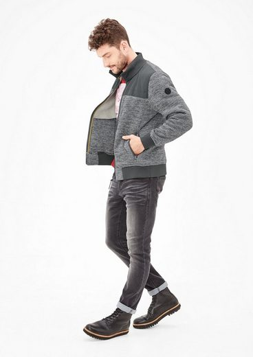 s.Oliver RED LABEL Sweatjacke im Melange-Look