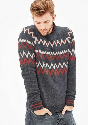 s.Oliver RED LABEL Warmer Pullover mit Zick-Zack-Muster