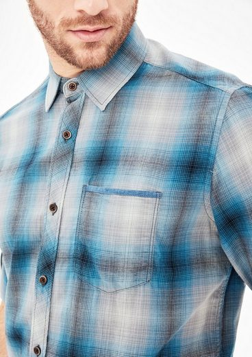 s.Oliver RED LABEL Slim: Baumwollhemd mit Karomuster