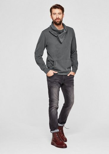 s.Oliver RED LABEL Pigment Dye-Sweater mit Turtleneck