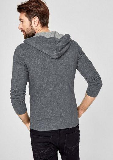 s.Oliver RED LABEL Meliertes Sweatshirt mit Kapuze
