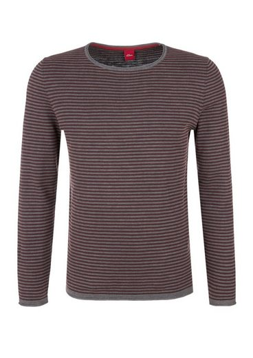 s.Oliver RED LABEL Strickpullover mit Ringeln