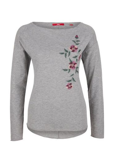 s.Oliver RED LABEL Longsleeve mit Embroidery-Stickerei