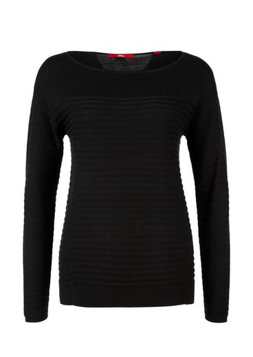 s.Oliver RED LABEL Pullover mit Strickmuster
