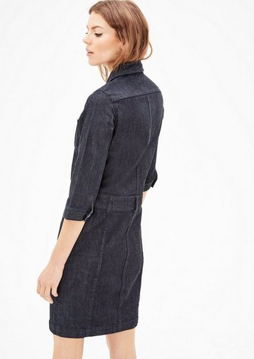 s.Oliver RED LABEL Denim-Kleid mit Knopfleiste