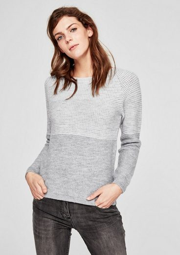 s.Oliver RED LABEL Strickpullover mit Blockstreifen
