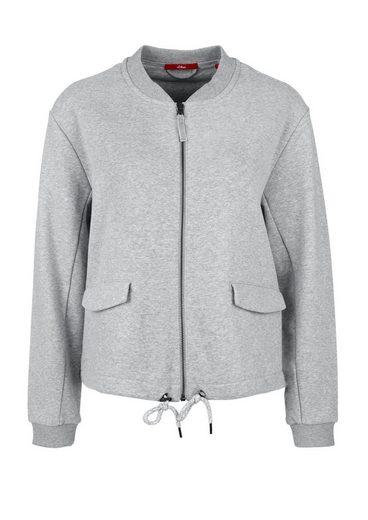 Sweat-shirt Court À Étiquette Rouge S.oliver Avec Cordon De Serrage