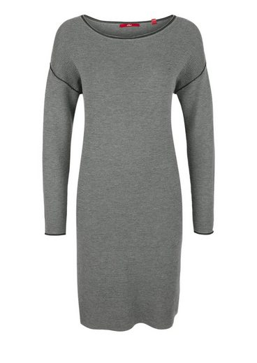 s.Oliver RED LABEL Geripptes Kleid mit Kontrast-Details