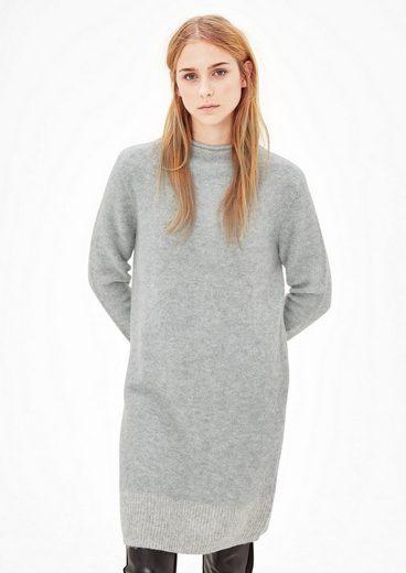 s.Oliver RED LABEL Bouclé-Kleid mit Stehkragen
