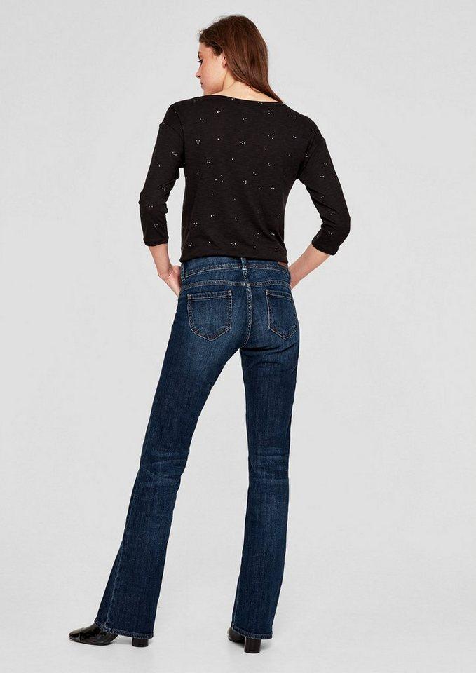 s oliver red label smart bootcut ausgestellte jeans. Black Bedroom Furniture Sets. Home Design Ideas