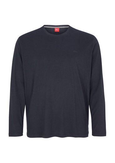 S.oliver Red Label Unifarbenes Jersey-longsleeve