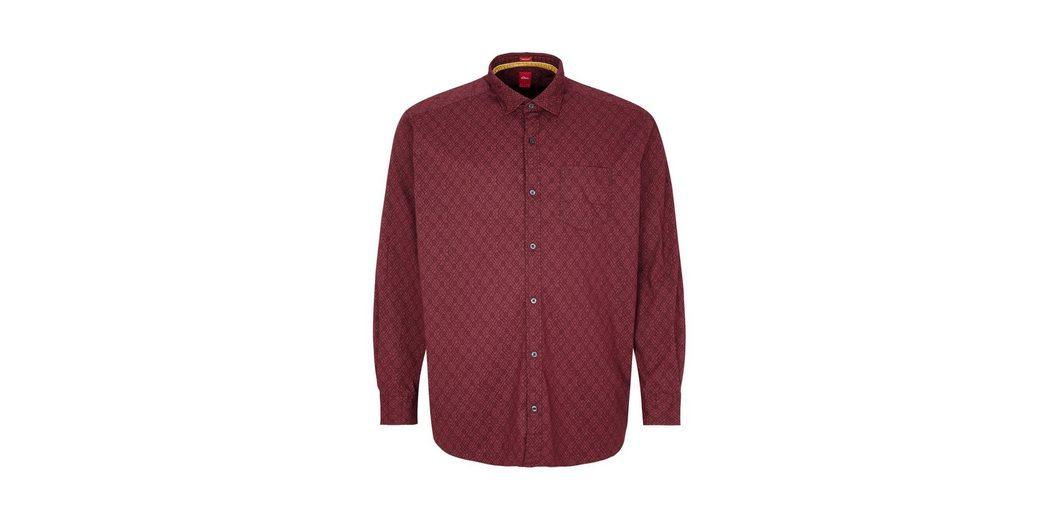 Verkauf 2018 s.Oliver RED LABEL Regular: Gemustertes Langarmhemd Nett Empfehlen Billig Spielfrei Versand Wp1FxE