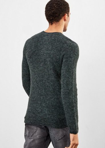 Q/S designed by Melierter Pullover in Woll-Optik