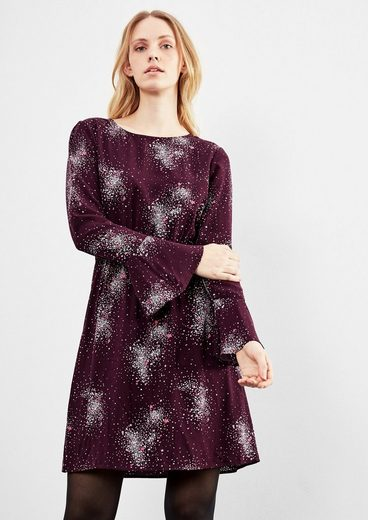 Q / S Designed By Print-dress With Flared Sleeves
