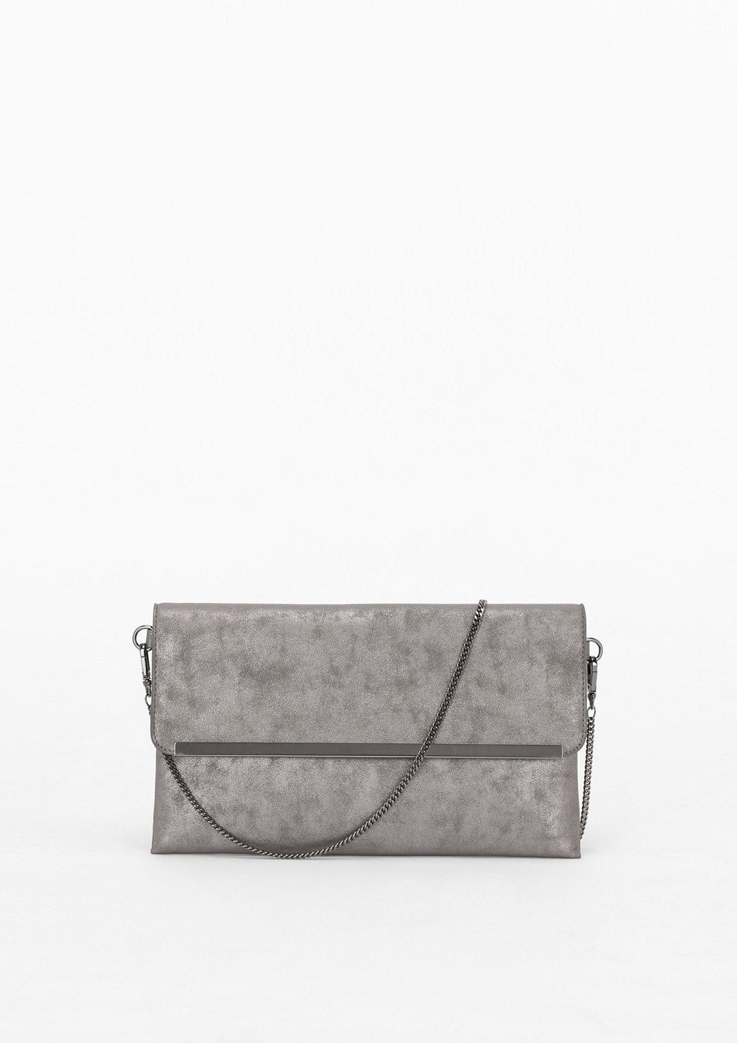 s.Oliver BLACK LABEL Envelope-Tasche im Metallic-Look