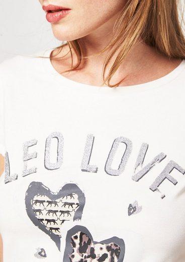 COMMA Kurzarm-Jerseyshirt mit Statement-Print