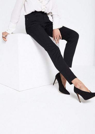 COMMA Black Denim-Jeans mit smarten Details