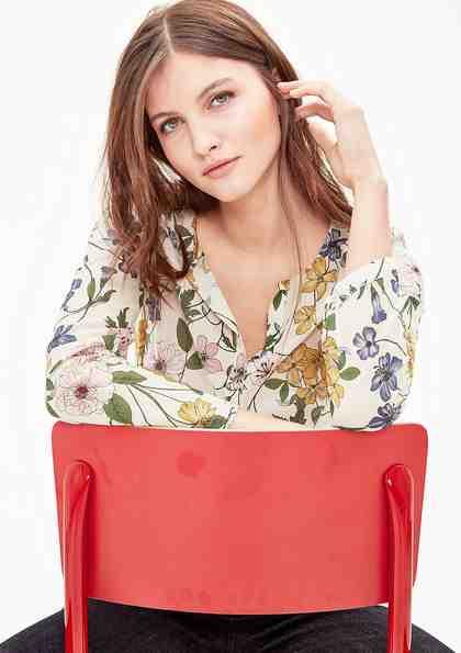 s.Oliver RED LABEL Blusenshirt mit floralem Print