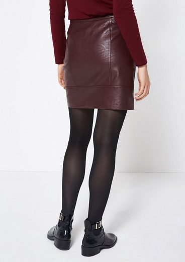 Comma Short Skirt Made Of Soft Faux Leather