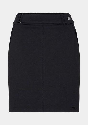 Comma Short Skirt With Belt Element