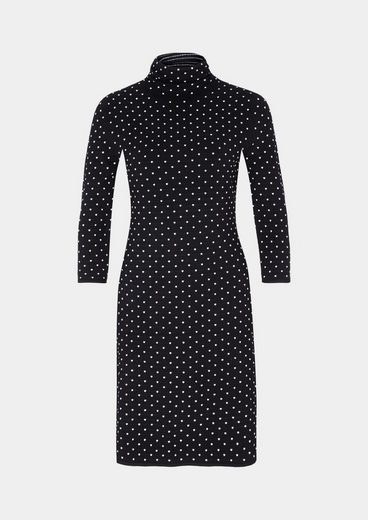 COMMA Weiches 3/4-Arm Strickkleid mit Dot-Muster