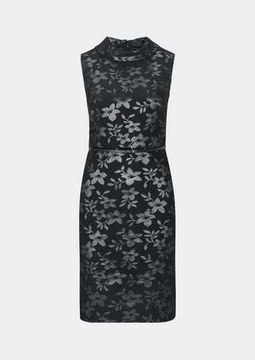 COMMA Abendkleid mit glänzendem Jacquardmuster