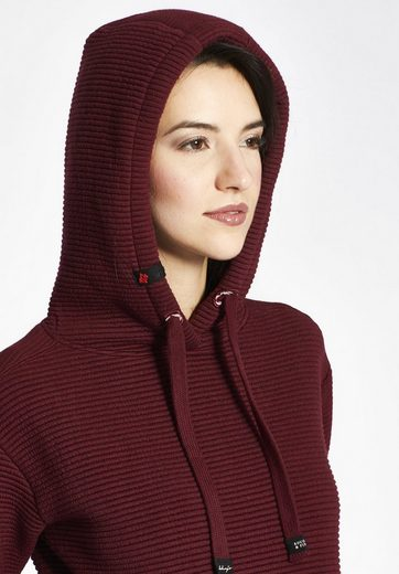 khujo Kapuzensweatshirt ELIDA, mit Reißverschluss am Rücken