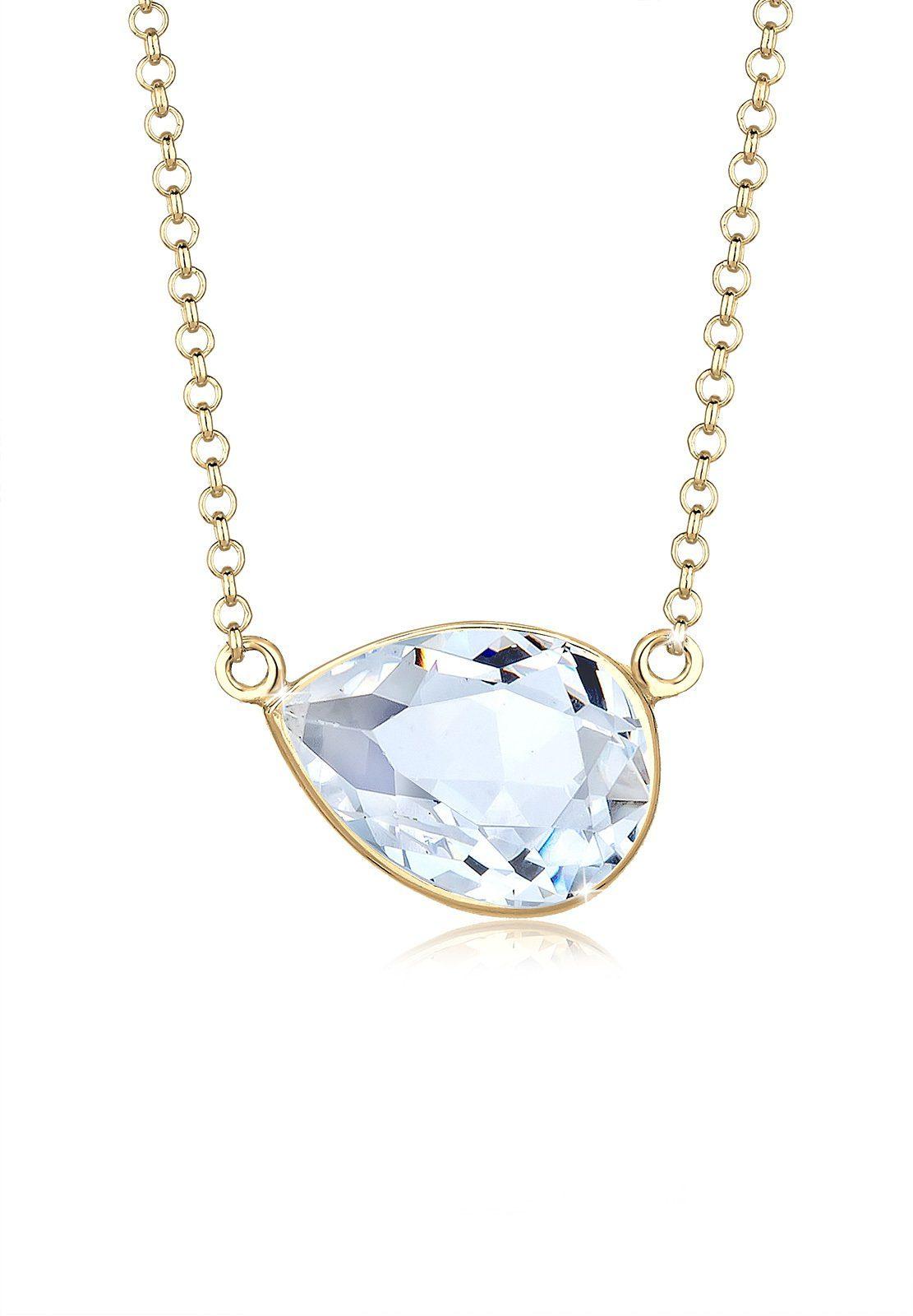 Elli Halskette »Oval Geo Swarovski® Kristalle 925 Sterling Silber«