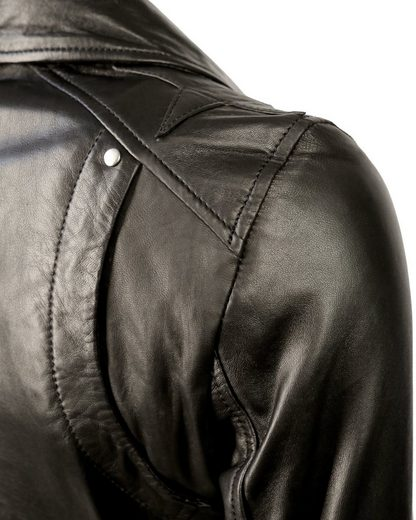 MAZE Lederjacke mit asymmetrischem Reißverschluss Indiana