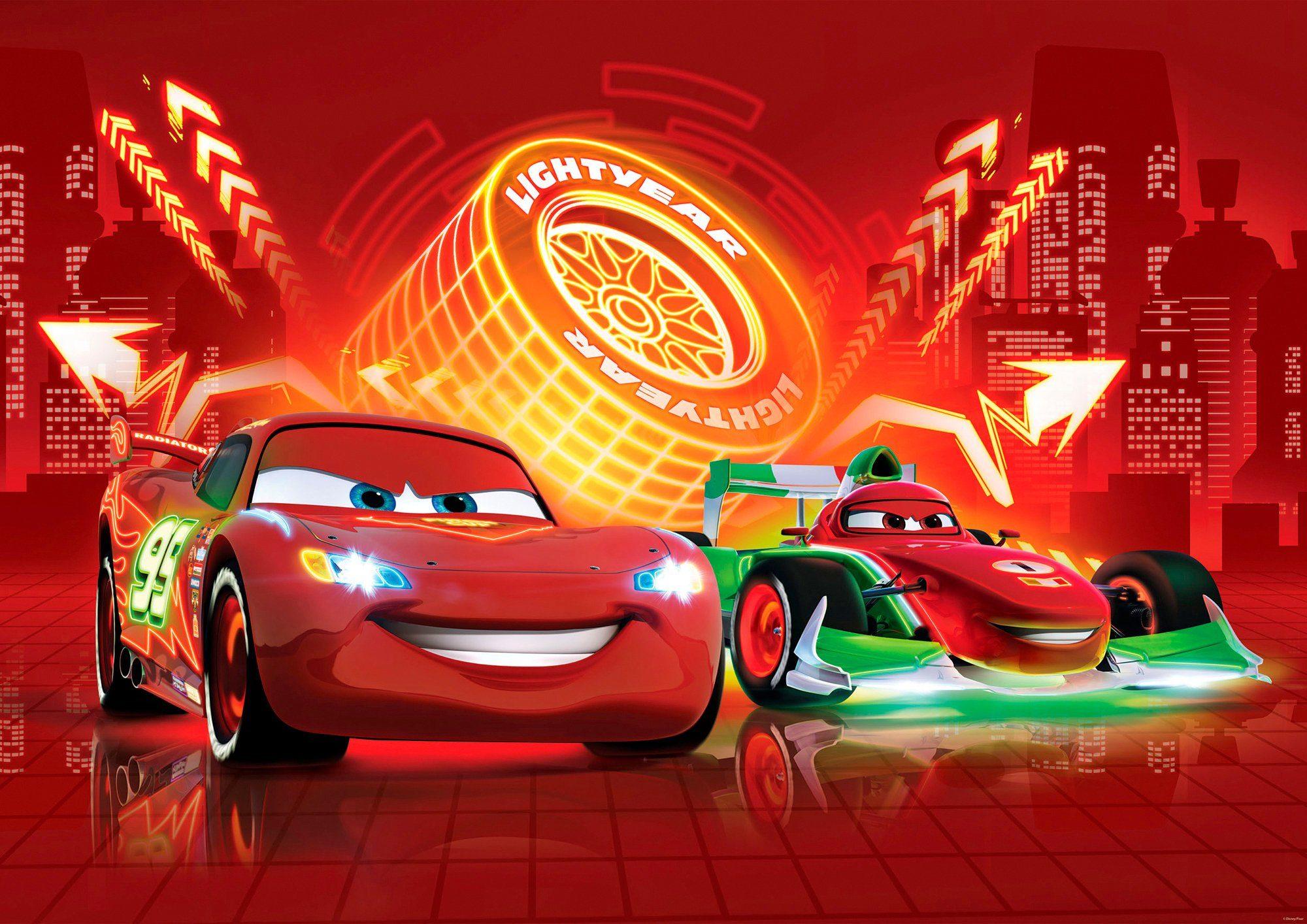 IDEALDECOR Fototapete »Cars«