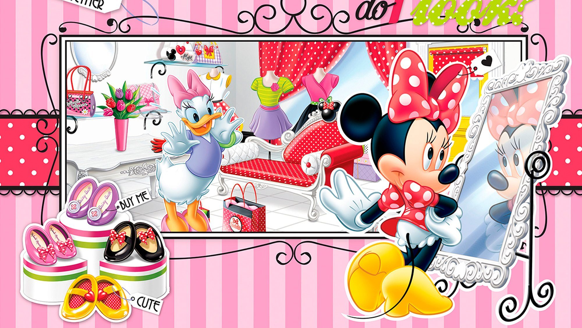 IDEALDECOR Fototapete »Disney Minnie Mouse«