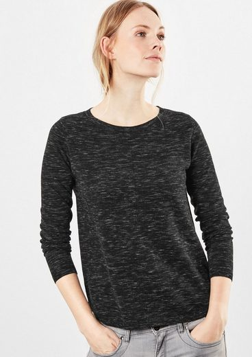 Q/S designed by Leichter melierter Pullover