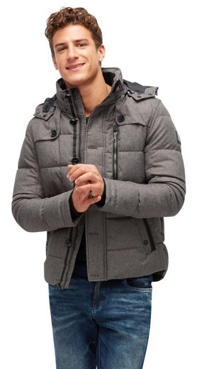 Tom Tailor-weather Jacket Quilted Jacket With Detachable Hood