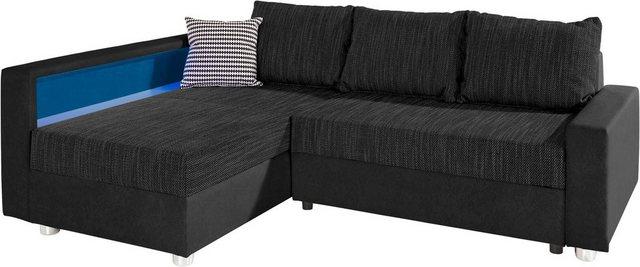 Sofas - COLLECTION AB Ecksofa, mit Bettfunktion, wahlweise mit RGB LED Beleuchtung und USB Port  - Onlineshop OTTO