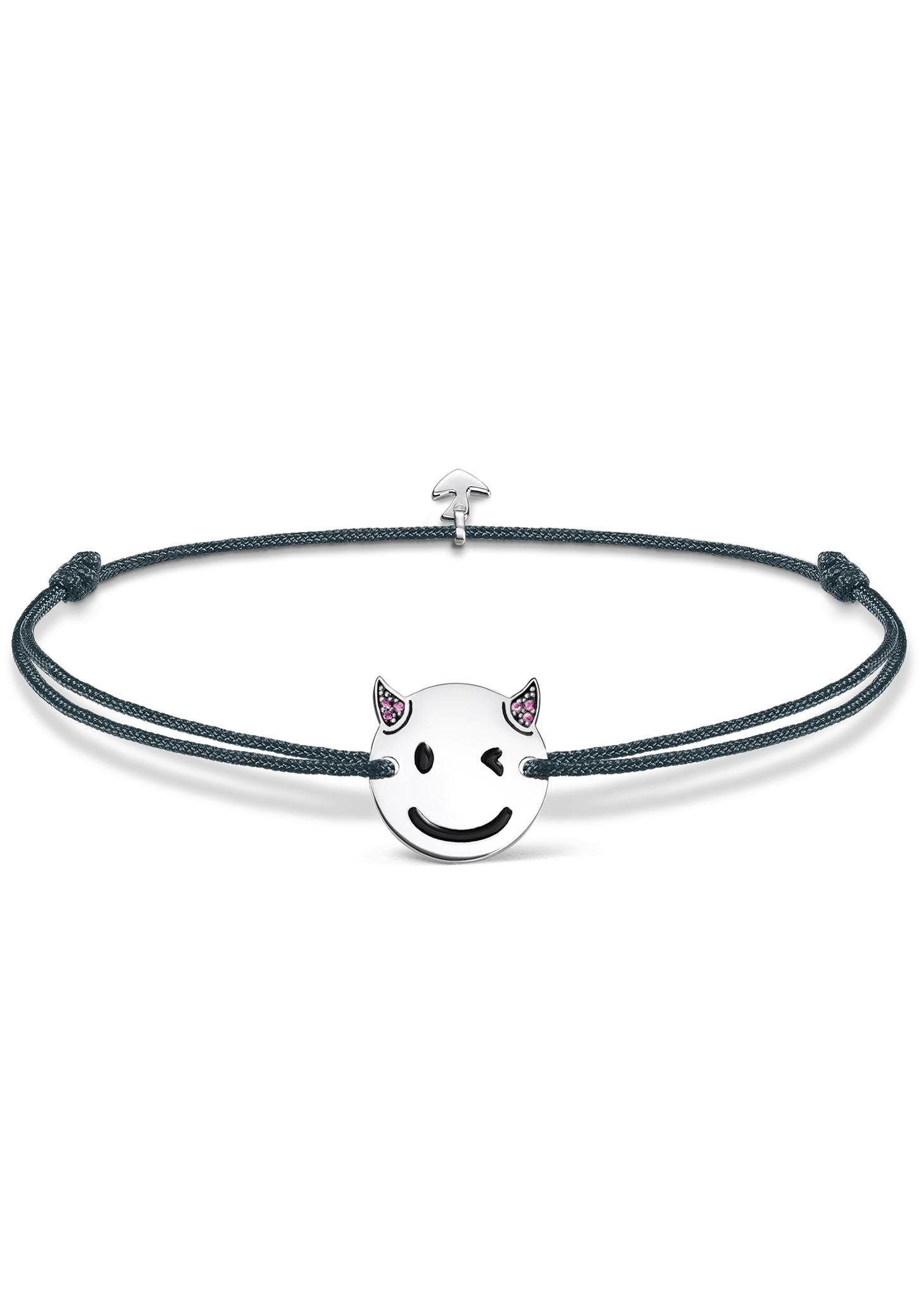 "THOMAS SABO Armband »Little Secret ""Teufel-Emoticon"", LS044-382-5-L20v« mit Emaille und synth. Korunden"