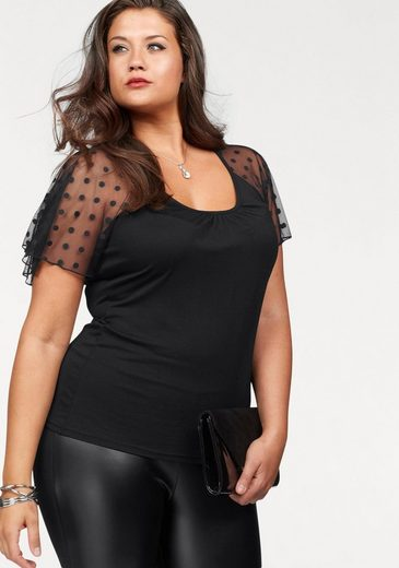 Melrose Rundhalsshirt, Curvy Collection