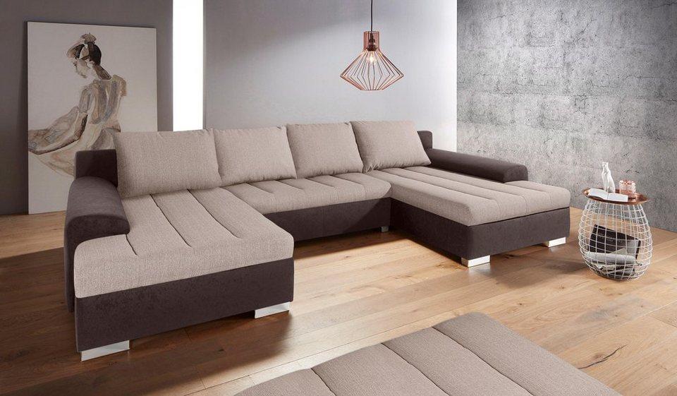 inosign wohnlandschaft wahlweise mit bettfunktion und. Black Bedroom Furniture Sets. Home Design Ideas