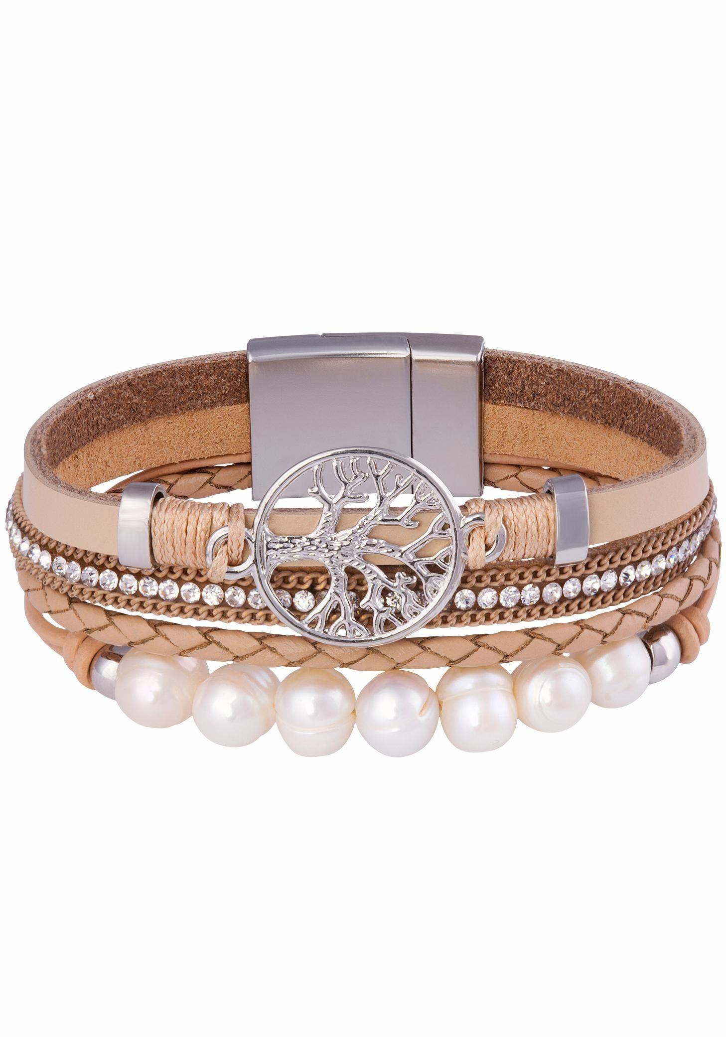 Tamaris Armband »Mara, C05130090«, mit Glassteinen und Kunststoffperlen