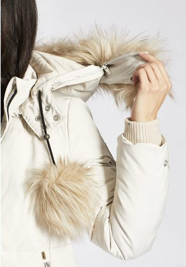 Khujo Quilted Jacket Lirona With Detachable Faux Fur On The Hood