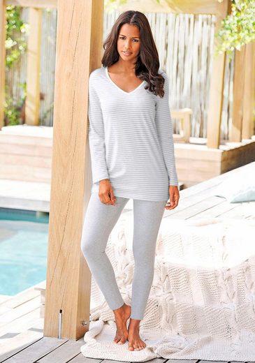H.I.S Pyjama mit Streifenshirt und Leggings