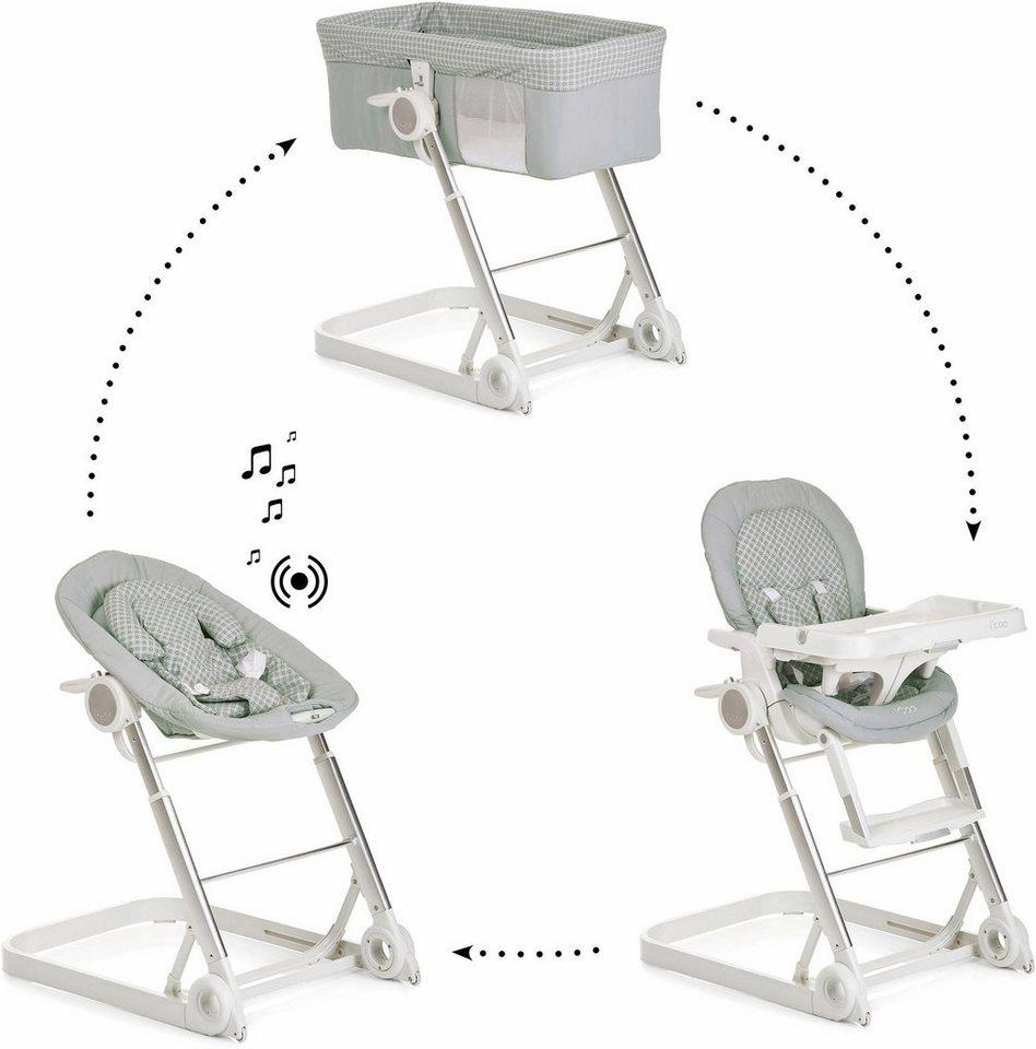 Babybetten - iCoo 3 in 1 Komplettset Babybett und Hochstuhl, »Grow with me 1 2 3 Diamond Grey«  - Onlineshop OTTO