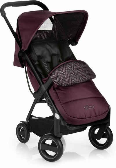 iCoo Kinder-Buggy »Acrobat Fishbone Bordeaux«, mit leichtem und stylischem Aluminiumgestell; Kinderwagen, Buggy, Sportwagen, Sportbuggy, Kinderbuggy, Sport-Kinderwagen