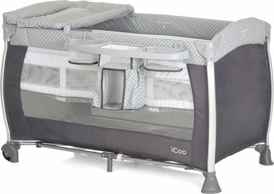 icoo reisebett mit tragetasche starlight diamond grey. Black Bedroom Furniture Sets. Home Design Ideas